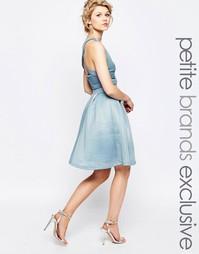 Пышная юбка миди для выпускного True Decadence Petite - Нежно-голубой