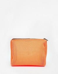 Сетчатая неоновая косметичка ASOS - Оранжевый