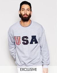 Oversize-свитшот Reclaimed Vintage USA - Серый