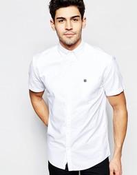 Оксфордская рубашка с короткими рукавами Selected Homme - Белый