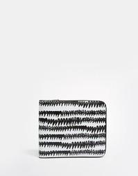 Бумажник с принтом Monki - Black wave