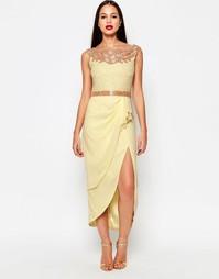 Платье миди Virgos Lounge Apricot - Желтый