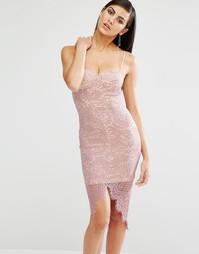 Облегающее кружевное платье Missguided - Сиреневый