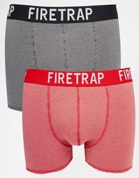 2 пары боксеров-брифов Firetrap - Черный