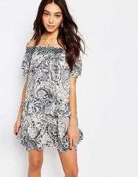Платье с оборками Vila Bardot - Мульти