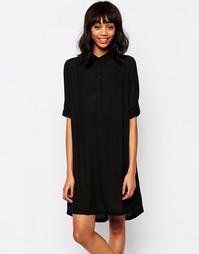 Платье-рубашка Monki Dannie - Черный