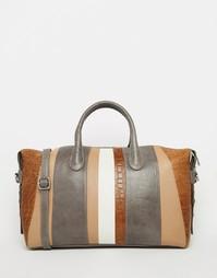 Кожаная сумка-тоут в полоску Urbancode