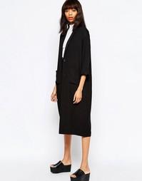 Oversize-пальто Monki - Черный