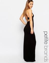 Платье с ремешками сзади Boohoo Petite - Черный