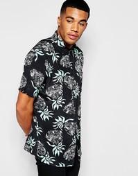 Классическая рубашка с ананасовым принтом HUF - Черный