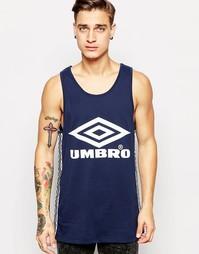 Майка с логотипом Umbro - Темно-синий