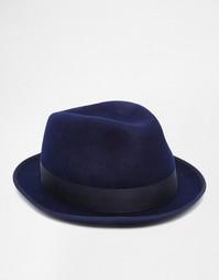 Шерстяная фетровая шляпа Paul Smith - Темно-синий