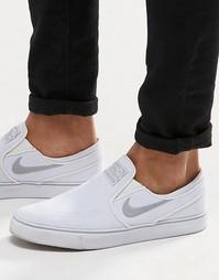 Кроссовки-слипоны Nike SB Zoom Stefan Janoski 831749-100 - Белый