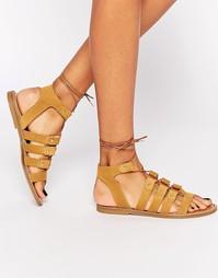 Светло-коричневые замшевые сандалии Dune Loreli - Рыжий