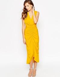 Платье макси VLabel Morden - Желтый