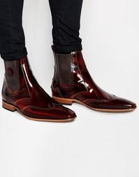 Кожаные ботинки челси Jeffery West Brogue - Коричневый
