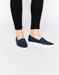 Кроссовки-слипоны с перфорацией Vero Moda - Темно-синий