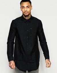 Длинная рубашка классического кроя Black Kaviar - Черный