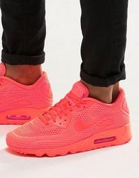 Кроссовки Nike Air Max 90 Ultra Breathe 725222-800 - Оранжевый
