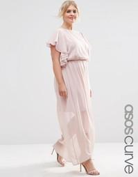 Платье макси ASOS CURVE - Телесный
