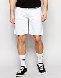 Белые джинсовые шорты прямого кроя Diesel Bustshort - Темная окраска