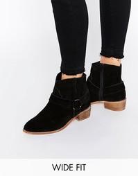Замшевые туфли на широкую ногу ASOS ANYA - Черный