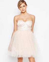 Платье для выпускного с пышной юбкой Little Mistress - Телесный