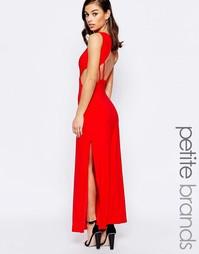Платье макси с открытой спинкой Lipstick Boutique Petite - Красный
