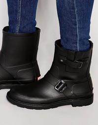 Резиновые сапоги в байкерском стиле Hunter Original - Черный