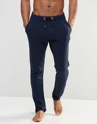 Темно-синие спортивные штаны слим в стиле casual ASOS - Темно-синий