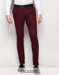 Супероблегающие брюки с отворотами Heart & Dagger - Burgundy