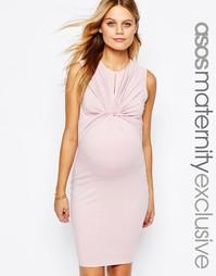 Облегающее платье для беременных с длинными рукавами ASOS Maternity