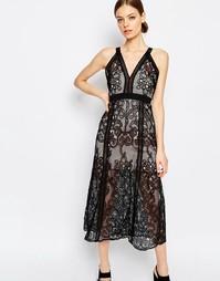 Кружевное платье макси без рукавов Alice McCall Wanderlust - Черный