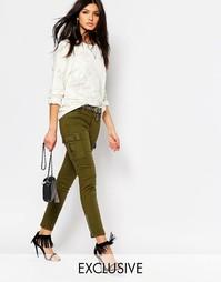 Зауженные брюки карго с акцентными молниями на уровне щиколотки Northm Northmore Denim