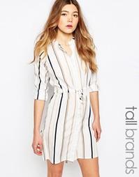 Платье-рубашка в полоску Influence Tall - Серый