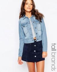 Джинсовая куртка с бахромой по краю Vero Moda Tall - Деним