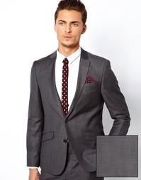 Приталенный пиджак из 100% шерсти ASOS - Угольный