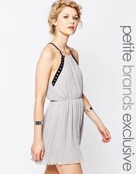 Шифоновое платье-майка с отделкой люверсами True Decadence Petite