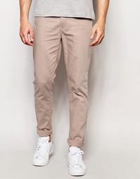 Бежевые зауженные джинсы ASOS - Серый