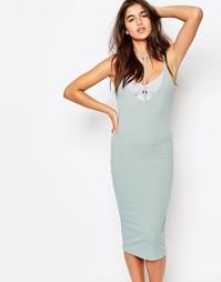 Платье миди в рубчик Missguided - Aqua
