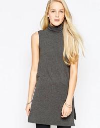 Платье-водолазка без рукавов JDY - Темно-серый меланж