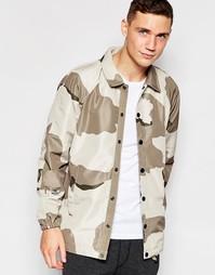 Спортивная куртка со сплошным камуфляжным принтом G-Star - Хаки