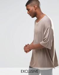 Драпированная oversize‑футболка Reclaimed Vintage - Серый