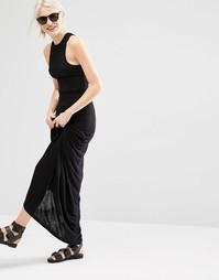 Платье макси со спинкой-борцовкой Cheap Monday - Черный