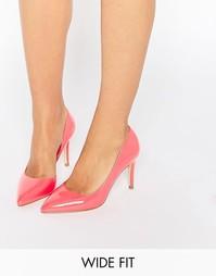 Розовые туфли‑лодочки для широкой стопы с вырезом Faith Cliff