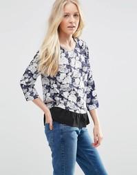 Блузка с рукавами 3/4 и цветочным принтом Vila August