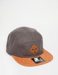 5-панельная кепка Abuze London Melton - Серый