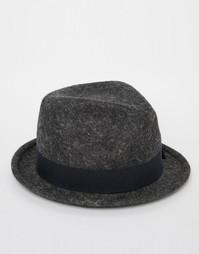 Шляпа с круглой плоской тульей Catarzi - Серый