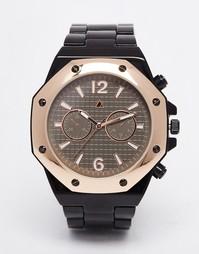 Черно-розово-золотистые часы с винтиками ASOS - Черный