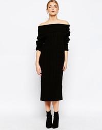 Платье макси с косами Boohoo - Черный